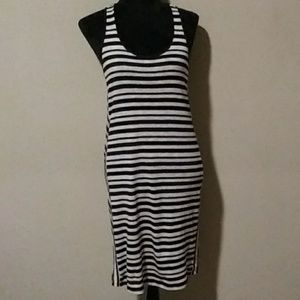 Ann Taylor Loft Striped Racer Back Dress